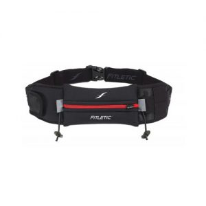 Fitletic Ultimate II Running Belt_Black with Red Zipper
