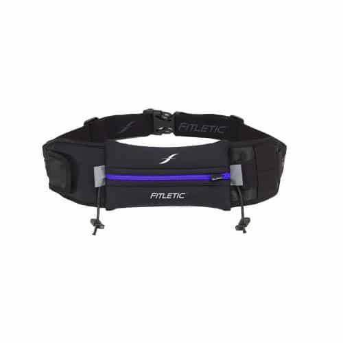 Fitletic Ultimate II Running Belt_Black with Blue Zipper