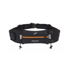 Fitletic Ultimate II Running Belt_Black with Orange Zipper