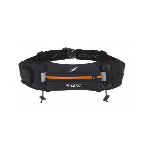Fitletic Ultimate II Running Belt_Black with Orange Zipper