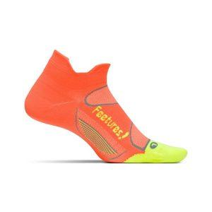 Feetures Elite Ultra Light Cushion Socks No Show _Electric Orange-Reflector