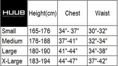 huub-man-tri-chothing-size-chart