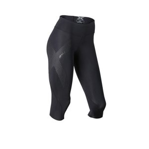 2XU MID-RISE COMPRESSION 3/4TIGHTS_BLACK-DOTTED REFLECTIVE LOGO