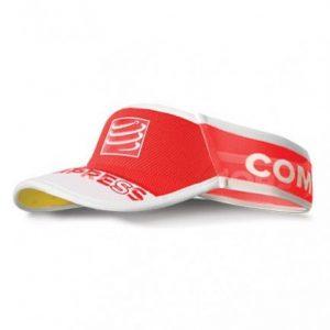 Compressport UltraLight VISOR Cap_Red