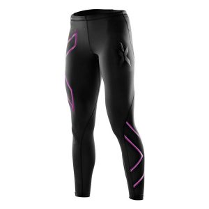 2XU Women's Compression Tights Black-Musk