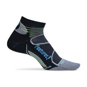 Feetures Elite Light Cushion Low Cut_Black-Brilliant Blue
