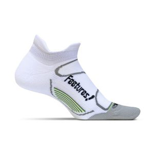 Feetures Elite Light Cushion Socks No Show_White-Black