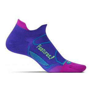 Feetures Elite Ultra Light Cushion Socks No Show_Baja Blue_Reflector