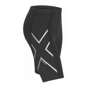 2XU Men's HYOPTIK Compression Shorts Black-Sliver Reflective