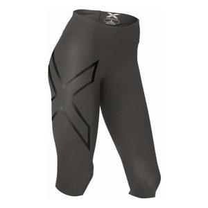 2XU Mid-Rise Compression 34 tights-Hyoptik_Steel-Black Reflective