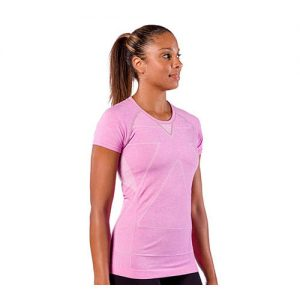 Zensah Run Seamless Short Sleeve Heather Pink