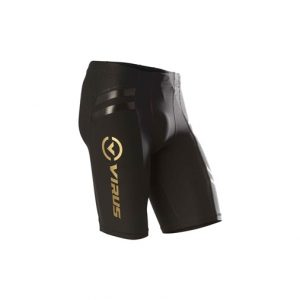 VIRUS Men's Energy Series Bioceramic Compression V2 Tech Shorts (Au11)_Black