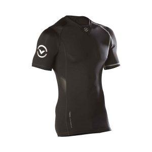 VIRUS Men's Stay Cool Short Sleeve X-Form Compression V-Neck (Co11x)_Black