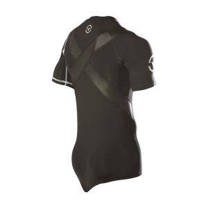VIRUS Men's Stay Cool Short Sleeve X-Form Compression V-Neck (Co11x)_Black_1
