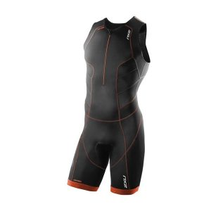 2XU Perform Front Zip Trisuit_BLACK-DESERT RED