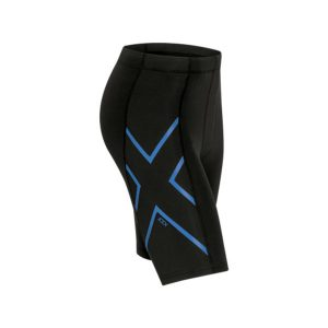 2XU Men's ICE-X Compression Shorts_Black-Cool Blue
