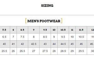 Men's Sizing