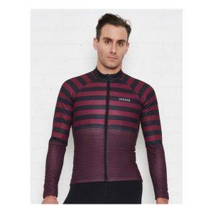 JAGGAD Little Big Stripe Long Sleeve Jersey_Cabernet_1