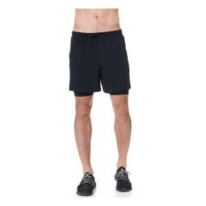 JAGGAD Men's Mid Length Run Shorts_Black