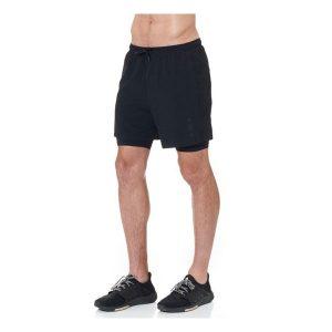 JAGGAD Men's Mid Length Run Shorts_Black_1