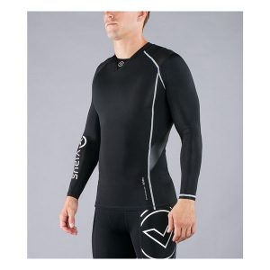 VIRUS Men's Stay Cool Long Sleeve X-Form Compression_Black