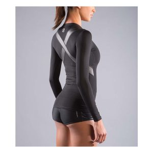 VIRUS Women's Stay Cool Long Sleeve X-Form Compression_Black_2