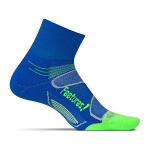 Feetures Elite Light Cushion Shock Quarter_Dazzling Blue-Citron