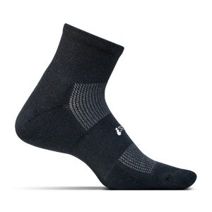 Feetures HP Light Cushion Socks Quarter_Black