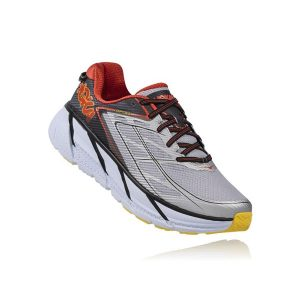 Hoka one one Men's CLIFTON 3_Grey-Orange Flash