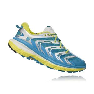 Hoka one one Men's SPEEDGOAT_Cyan-Citrus_1