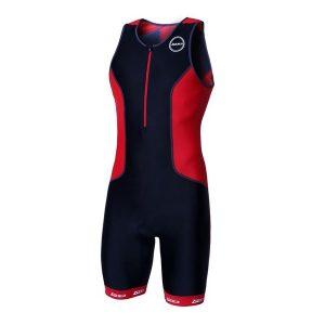 Zone3 Men's Aquaflo+ Trisuit Black-Red_1