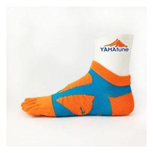 yamatune-spider-arch-sports-socks-5-toe-minicrew-orange-blue