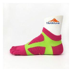 yamatune-spider-arch-sports-socks-5-toe-minicrew-pink-yellow
