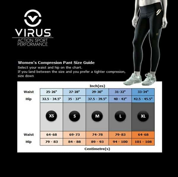 Virus Women Size Chart New