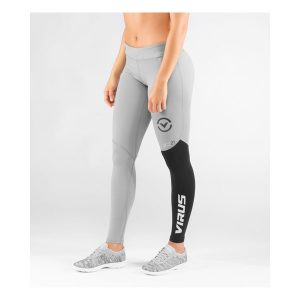 Virus Women's Stay Cool Eco21 Compression Pant_Gray-Black
