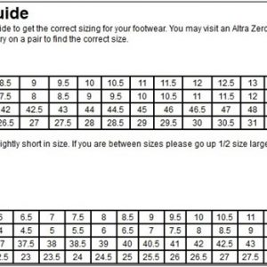 Altra Running size guide