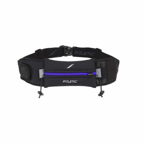 Fitletic Ultimate II Running Belt_Black with Blue Zipper