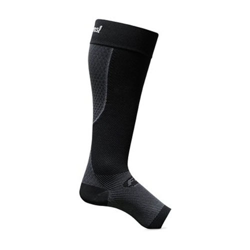 Feetures Plantar Fasciitis Calf Sleeve Pair-Black