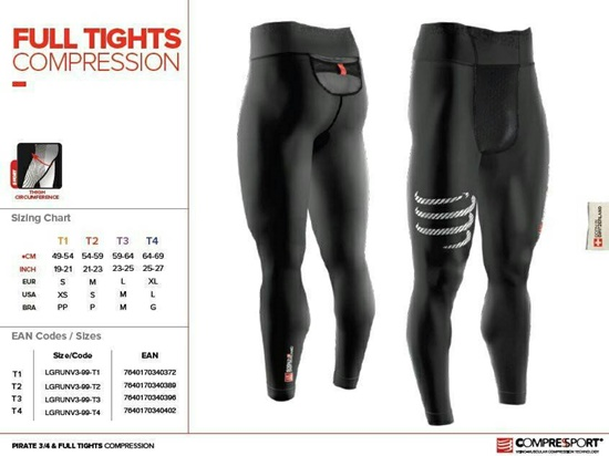 Compressport Compression Full Tights_Size-Chart