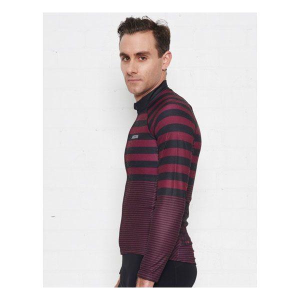 JAGGAD Little Big Stripe Long Sleeve Jersey_Cabernet_2