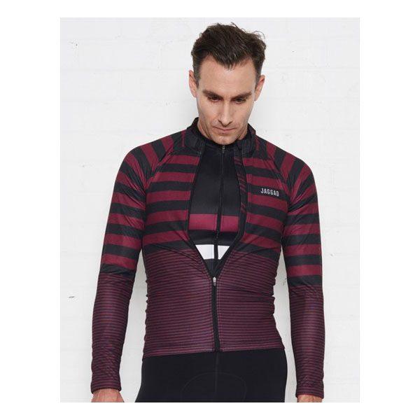 JAGGAD Little Big Stripe Long Sleeve Jersey_Cabernet_4