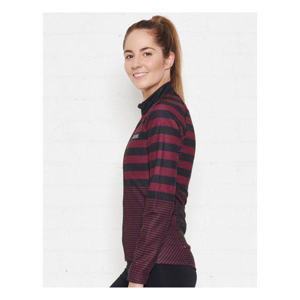 JAGGAD Little Big Stripe Long Sleeve Jersey_Cabernet_7