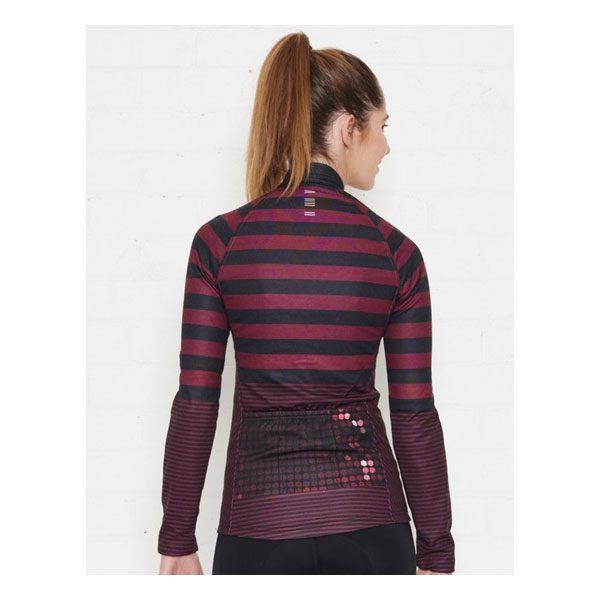 JAGGAD Little Big Stripe Long Sleeve Jersey_Cabernet_8