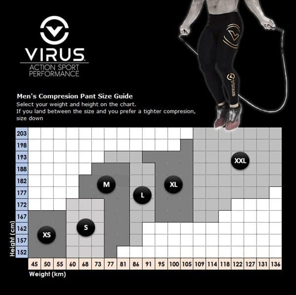 Virus Men Size Chart New
