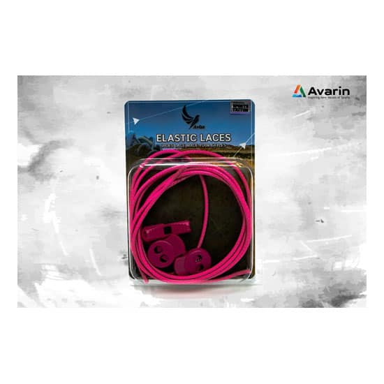 Aviss Reflective Lock Laces Hot Pink