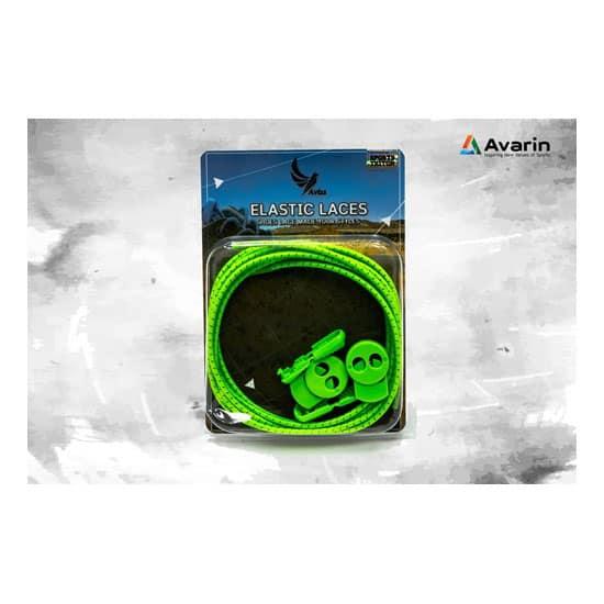 Aviss Reflective Lock Laces Neon Green