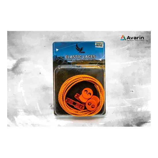 Aviss Reflective Lock Laces Neon Orange