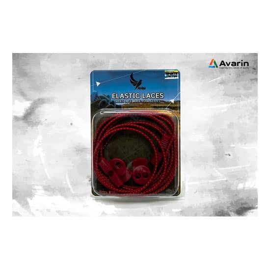 Aviss Reflective Lock Laces Red