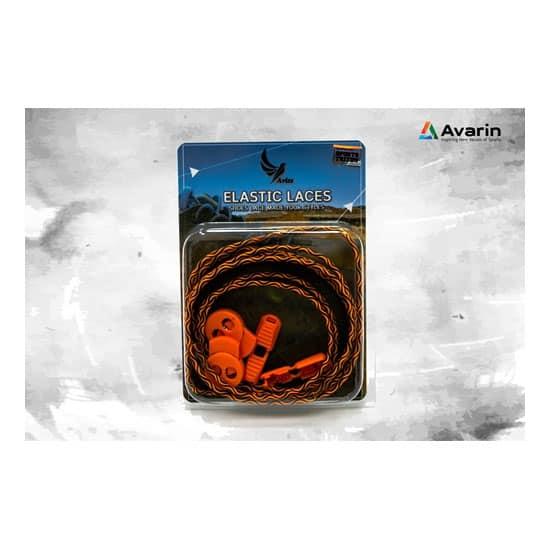 Aviss Water Wave Lock Laces Orange