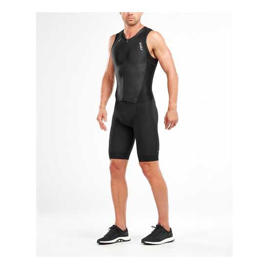 2XU-Men's-Compression-Full-Zip-Trisuit-Black-Black-1